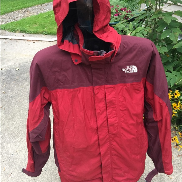 387a72dc0 Men's The North Face Hyvent Red Hooded Jacket SZ L